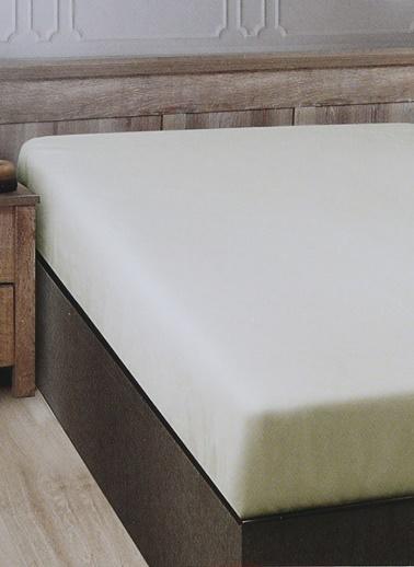 Boyner Evde Boyner Evde 200 x 260 Çift Kişilik Ekru Düz Çarşaf Ekru